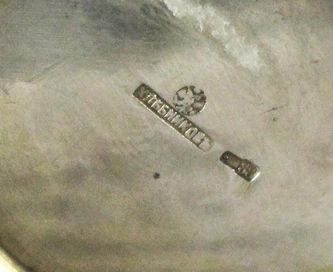 """Арт-студия """"Кентавр"""" - Старинная серебряная солонка, украшенная перегородчатой эмалью №014205"""