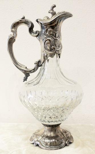 """Арт-студия """"Кентавр"""" - Серебряный кувшин для вина с растительным декором №014261"""
