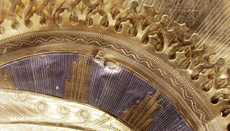 """Арт-студия """"Кентавр"""" - Старинная икона """"Богоматерь Тихвинская"""" в серебряном окладе №014269"""