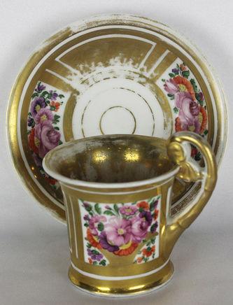 """Арт-студия """"Кентавр"""" - Чайная пара с цветочным декором №014277"""