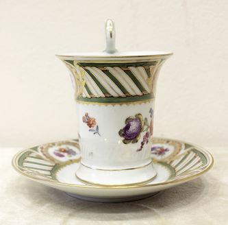 """Арт-студия """"Кентавр"""" - Чайная пара с изображением цветов №014290"""