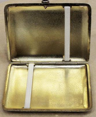 """Арт-студия """"Кентавр"""" - Антикварный серебряный портсигар, украшенный расписной эмалью №014312"""