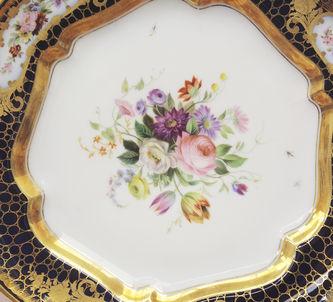 """Арт-студия """"Кентавр"""" - Фарфоровая тарелка с изображением цветочных букетов №014356"""