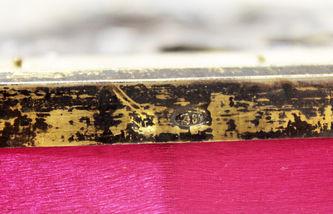 """Арт-студия """"Кентавр"""" - Старинная икона """"Божья Матерь Иверская"""" в окладе с расписной эмалью №014377"""