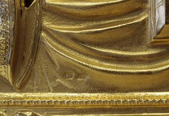 """Арт-студия """"Кентавр"""" - Старинная икона """"Господь Вседержитель"""" в серебряном окладе №014391"""