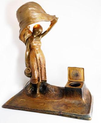 """Арт-студия """"Кентавр"""" - Антикварная лампа в стиле Ампир №014403"""