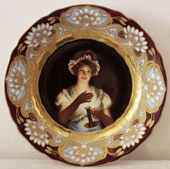 "Арт-студия ""Кентавр"" - Декоративная тарелка с портретом девушки №014404"