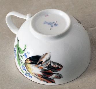 """Арт-студия """"Кентавр"""" - Чайная пара с изображением цветов №014410"""