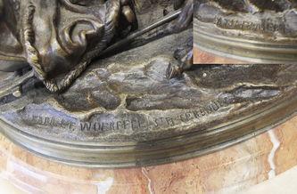 """Арт-студия """"Кентавр"""" - Бронзовая кабинетная скульптура """"Зимняя тройка"""" №014431"""