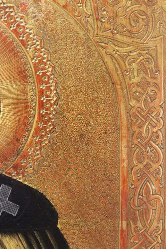 """Арт-студия """"Кентавр"""" - Старинная икона """"Святой преподобный Сергий Радонежский"""" №014477"""