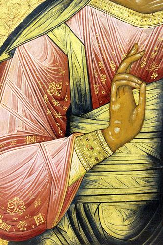 """Арт-студия """"Кентавр"""" - Старинная икона """"Господь Вседержитель"""" на золотом фоне №014560"""