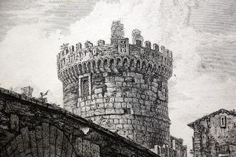 """Арт-студия """"Кентавр"""" - """"Вид моста Лугано через Аньене"""" (из серии """"Римские мосты"""") №014618"""