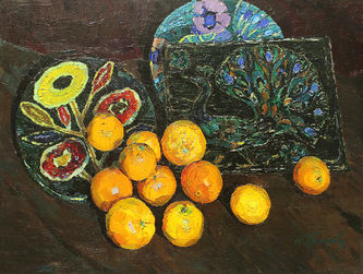 """Арт-студия """"Кентавр"""" - """"Апельсины на фоне керамики"""" №014622"""