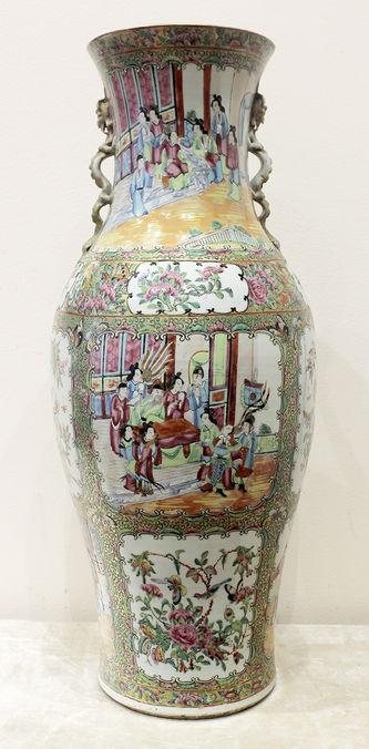 """Арт-студия """"Кентавр"""" - Старинные парные вазы с изображением птиц, цветов и жанровых сцен №014625"""