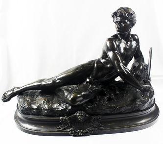 """Арт-студия """"Кентавр"""" - Бронзовая скульптура """"L""""Alerte Par Bonduel"""" (""""Бдительность Бондюэля"""") №014628"""