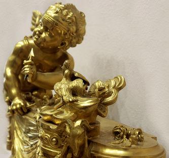 "Арт-студия ""Кентавр"" - Бронзовая скульптура ""Амур -бог любви точит стрелы"" №014666"