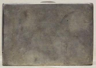 """Арт-студия """"Кентавр"""" - Антикварный серебряный портсигар, украшенный камнями №014668"""