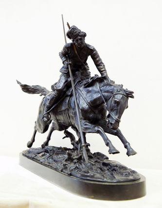 "Арт-студия ""Кентавр"" - Бронзовая скульптура ""Атакующий казак с копьём"" №014678"