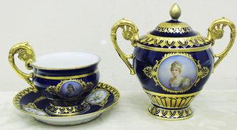"""Арт-студия """"Кентавр"""" - Чайный сервиз """"Эгоист"""" с портретами членов императорской семьи Наполеона I  №014689"""