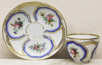 """Арт-студия """"Кентавр"""" - Чайная пара с цветочными резервами №014706"""