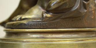 """Арт-студия """"Кентавр"""" - Антикварная бронзовая скульптура """"Мальчик-ангел"""" (Воздушный поцелуй) №014818"""
