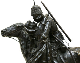 """Арт-студия """"Кентавр"""" - Бронзовая скульптура """"Прощание казака с казачкой"""" №014832"""