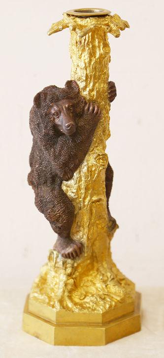 """Арт-студия """"Кентавр"""" - Парные подсвечники """"Медведь на дереве"""" №014839"""