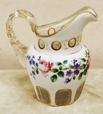 """Арт-студия """"Кентавр"""" - Набор из 3 предметов из стекла с цветочным декором №014935"""