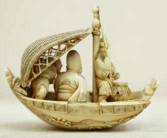 "Арт-студия ""Кентавр"" - Окимоно ""Рыбаки в лодке"" №014981"