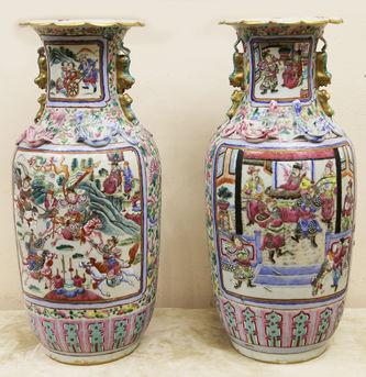 """Арт-студия """"Кентавр"""" - Парные вазы со сценами сражений, фигурами ящериц и тритонов №015034"""