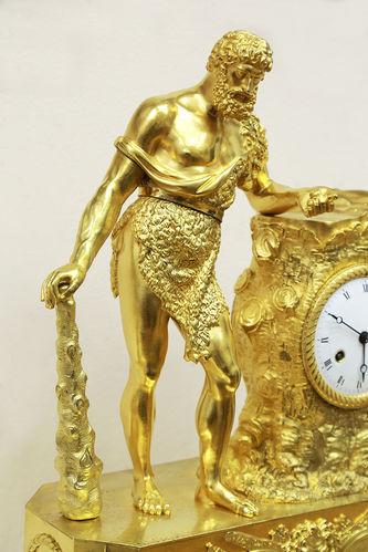 """Арт-студия """"Кентавр"""" - Cтаринные каминные часы с боем в стиле ампир """"Геракл""""  №015067"""