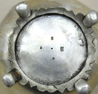 """Арт-студия """"Кентавр"""" - Старинный серебряный кофейник в стиле историзм №015073"""