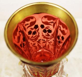 """Арт-студия """"Кентавр"""" - Бокал с """"рубиновым"""" нацветом с изображением ягод №015142"""