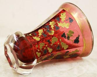 """Арт-студия """"Кентавр"""" - Бокал с """"рубиновым"""" нацветом с изображением виноградной лозы №015143"""