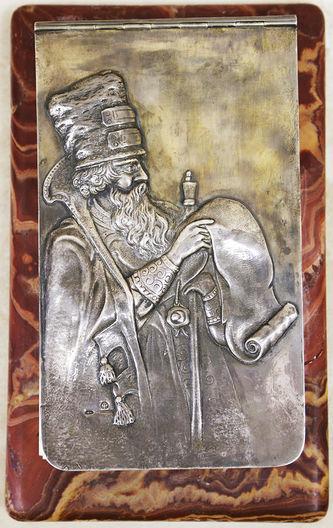 """Арт-студия """"Кентавр"""" - Блокнот в серебряной оправе """"Боярин, читающий царский указ"""" №015298"""