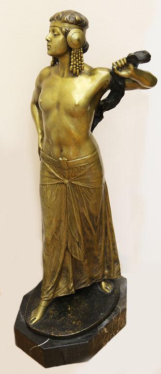 """Арт-студия """"Кентавр"""" - Бронзовая скульптура «Египтянка» в стиле Ар Деко №015315"""