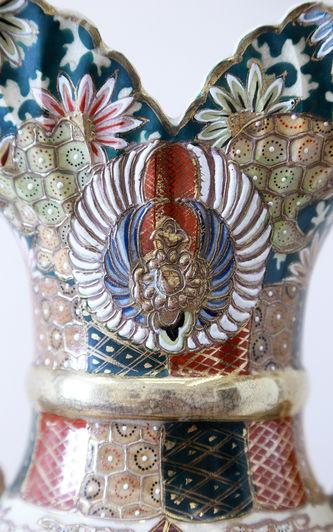 """Арт-студия """"Кентавр"""" - Ваза с самураями и ручками в форме пальметт №015357"""