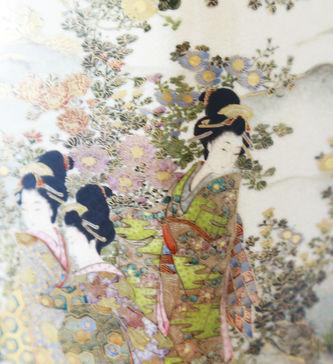 """Арт-студия """"Кентавр"""" - Парные вазы с японскими пейзажами №015358"""