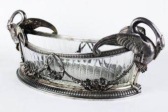 """Арт-студия """"Кентавр"""" - Старинная конфетница с фигурами лебедей №015365"""