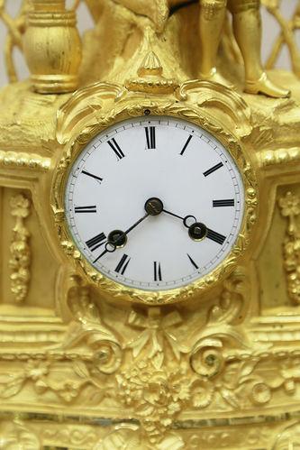 """Арт-студия """"Кентавр"""" - Старинные каминные часы """"Сборщик винограда"""" №015377"""