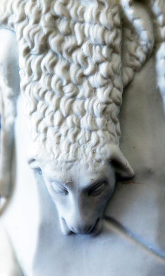"""Арт-студия """"Кентавр"""" - Фарфоровая скульптура """"Мальчик-пастух с собакой"""" №015383"""