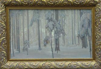 "Арт-студия ""Кентавр"" - Лайбер Отто Фердинанд (1878-1958) - ""Зимний лес""  №002809"