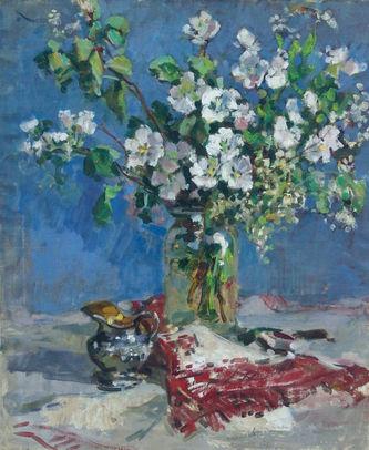 """Арт-студия """"Кентавр"""" - """"Натюрморт с ветками цветущей яблони"""" №007420"""