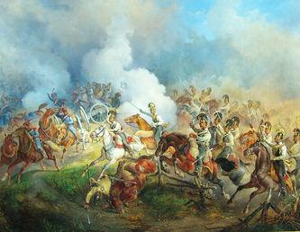 "Арт-студия ""Кентавр"" - Франц Целлер фон Целленберг (1805-1876) - ""Эпизод из антинаполеоновской кампании 1813-1814 гг. Преследование австрийскими кирасирами французских артиллеристов"", 1846 год №008569"