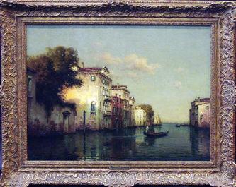 "Арт-студия ""Кентавр"" - Бувар Джордж Ноэль (1912-1975) - ""Гондола на канале в Венеции""  №008690"