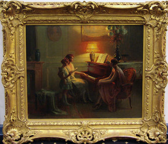 """Арт-студия """"Кентавр"""" -  Анжольрас Дельфин (1857-1945) - """"Урок музыки"""" №008692"""