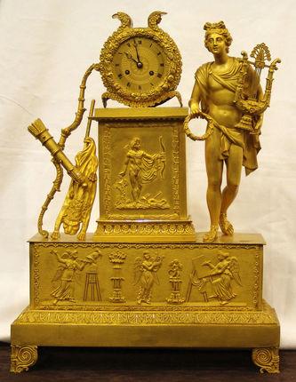 "Арт-студия ""Кентавр"" - Часы каминные с боем ""Аполлон"" 1820-1830 гг. №008698"