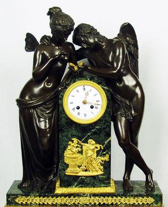 """Арт-студия """"Кентавр"""" - Старинные каминные часы с боем """"Амур и Психея"""" №008848"""