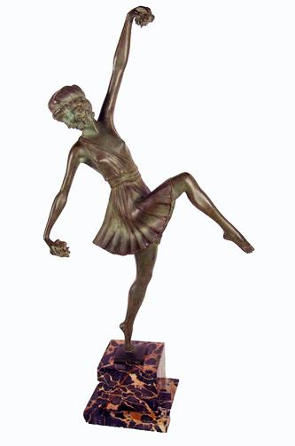 """Арт-студия """"Кентавр"""" - Скульптура бронзовая в стиле Арт-Деко """"Танцовщица с цветами"""". №009000"""