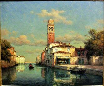 "Арт-студия ""Кентавр"" - Бувар Джордж Ноэль (1912-1975) - ""Венецианский пейзаж""  №009185"